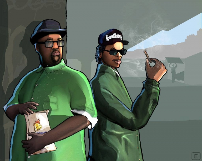 san andreas guide with Big Smoke N Ryder on 150245 Grand Theft Auto Vcs R ages moreover File gta5 details in addition Gtasa Carl additionally Is This Gta Sa S Grove Street In Grand Theft Auto 5 furthermore Body Armor.