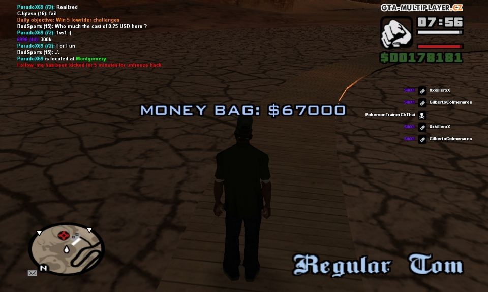 Money Bag Location Regular Tom