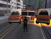 My spec carpark! 2x Ambulance (222) and firetruck (222)