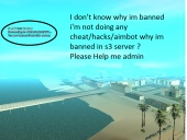 Why i'm banned in s3 server?