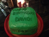 DavidPC's Green Birthday Cake