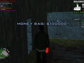 Clean 100k moneybag with location in description