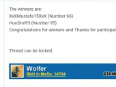 Wolfer's Bday Giveaway
